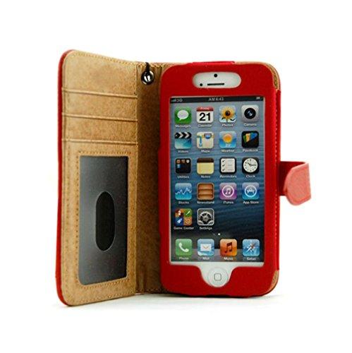 Motif Litchi Étui en cuir style portefeuille à rabat latéral Téléphone portable étui coverf4m7, Cuir, #20 Rose, iPhone 6 / 6S #20 Blue