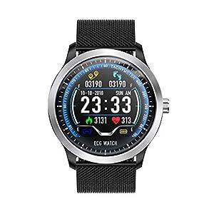 KXIN Fitness-Tracker, Smart-Armband Mit EKG + PPG HRV Blutdruck Herzfrequenz-Oximetrie Bericht, IP67 Wasserdichte Bluetooth Sportuhr