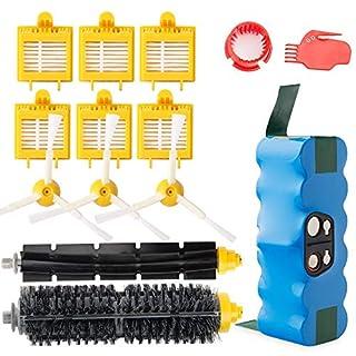 efluky 4.0Ah batterie de rechange avec Kit d'accessoires pour Aspirateur iRobot roomba 700 750 760 765 772 774 775 776 776p 770 780 782 785 786 786p 790 - Un Kit de 14