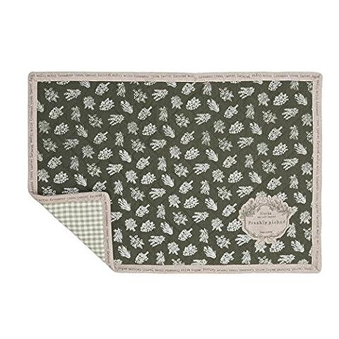 mog40Set de table réversible motif carreaux vert Lot de 6série My Own Herbal Garden env. 33x 48cm