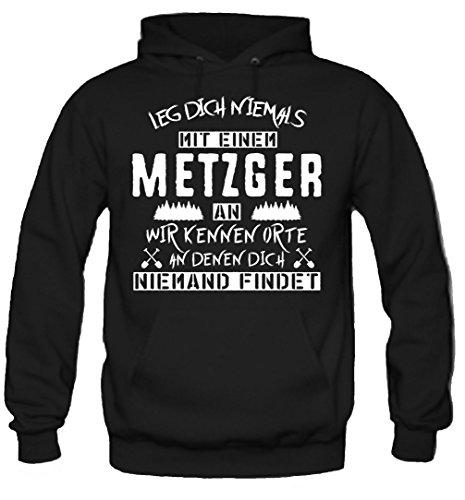 Leg dich niemals mit einem Metzger an Kapuzenpullover | Bauer | Natur | Bio | Sprüche | Beruf | Job...