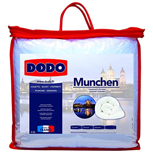 Dodo 28301200 Munchen Couette Polyester Blanc 200 x 200 cm