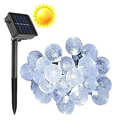 Solar String Lights, VSOAIR 30 LED Ball Lights Waterproof White Idea for Christmas, Home, Garden