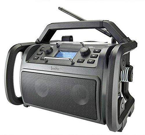 Audisse Shokunin WLAN Internet-Baustellenradio mit DAB+/UKW, Bluetooth, USB, WLAN, AUX, App- und Spotify-fähig, als Freisprechanlage nutzbar. Digitalradio tragbar und robust.