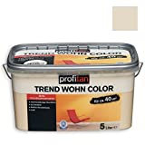 ROLLER profitan Wandfarbe Trend Wohn Color - Sand Matt - 5 Liter