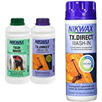 Nikwax Tech Wash Waschmittel + TX Direct Imprägnierung,  2x1 Liter, für Funktionsbekleidung