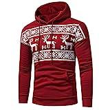 Celucke Herren Hoodie Kapuzenpullover Langarm Winter Sweatshirt Weihnachtspullover Top Pullover