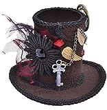 Femmes Victorien Steampunk Chapelier Fou Halloween Mini Chapeau Costume Déguisement Tenue Accessoire - One Size