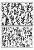 Stempel mit Blumen-Motiv, Gummi, Transparent, für Scrapbook/Fotodekoration, zum Basteln von Karten
