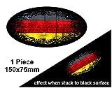 Verblasst zu schwarz getragen Grunge Oval Design mit Deutschland Deutsch Flagge für Motorrad Helm...