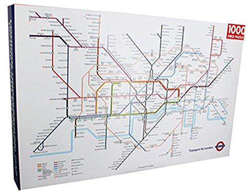Unbekannt Robert Frederick rechteckig london underground Puzzle, sortiert, 1000