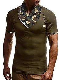 Mens T Shirts,Mens Shirts Short Sleeve,Mens Shirts,Mens Tops,Mens Shirts Casual,Mens Tops Summer,Men Shirt New Look,Moonuy Men Camouflage Zipper Fashion Casual Handsome Pullover Blouse