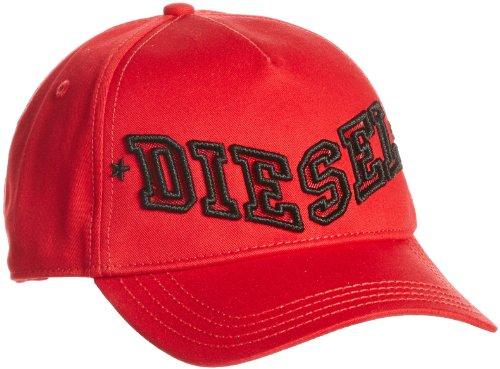 Diesel Caraky Logo Herren Mütze Baseball Cap, Rot Baumwolle Hat Capi Große; Einheit Große ( One Size )