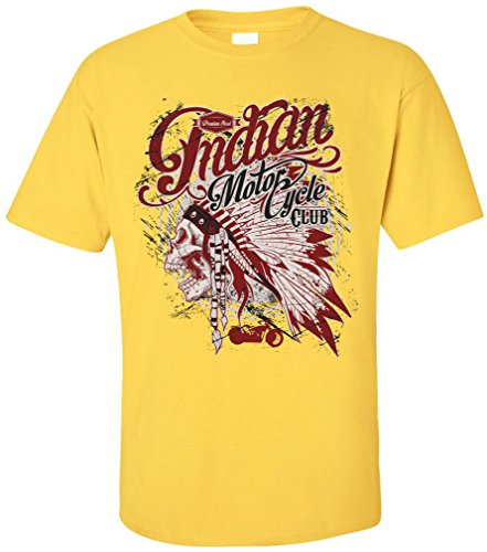 PAPAYANA - INDIAN-MOTOR-CLUB - Herren T-Shirt - HELLS BIKE WESTERN Gelb