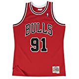 Mitchell & Ness Dennis Rodman #91 Chicago Bulls 1997-98 Swingman NBA Trikot Rot, XL