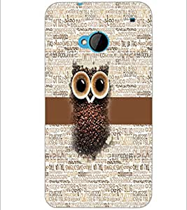 PrintDhaba Coffee Beans Owl D-4044 Back Case Cover for HTC ONE M7 (Multi-Coloured)