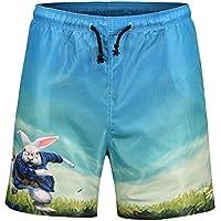 FENICAL 3D de Dibujos Animados de Conejo de impresión de Verano Pantalones Cortos de natación Briefs Beachwear Pantalones de Playa de Secado rápido Talla L