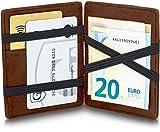 GenTo® Magic Wallet Lissabon - Wild-Leder-Optik - TÜV geprüfter RFID, NFC Schutz - mit Münzfach Männer | Design Germany