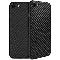 """doupi UltraSlim Case iPhone 8 / 7 ( 4.7"""" ) Carbon Fiber Look Fibra di Carbonio ottiche piuma facile Copertura Tacsa Custodia Caso Cover Hardcase - Nero"""