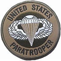 rot Minkoll 3D Stickerei Abzeichen USA Fallschirmj/äger Milit/ärische Taktische Patch Abzeichen f/ür Kleidung Cap Tasche