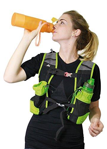 MARSUPIO® RUNNER 10 L Laufrucksack (10 Liter Geländelauf Berglauf Nylon 225 g) Black - Red
