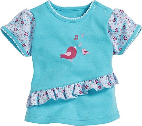 Schnizler Baby-Mädchen Vögelchen T-Shirt, Türkis (Türkis 15), 86 -