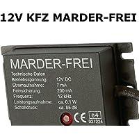 Eurosell Profi Marderschutz Marder Frei Auto KFZ Marderschreck Abschrecken 12V Autobatterie Anschluss Abwehrgerät Ultraschall Marderschutz