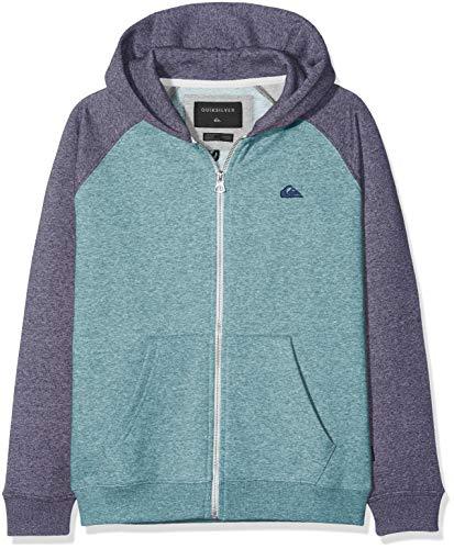 Quiksilver Jungen Everyday Zip Youth Fleece Top, Medieval Blue Stormy Sea HTH, M/12 - Quiksilver-jungen Kleidung