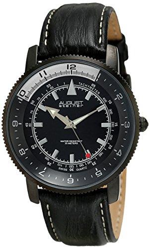 August Steiner Reloj Pantalla analógica cuarzo suizo Negro para hombre