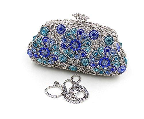 Damen Abendtasche Diamant-Inlay Diamant-Mappe Hand Bankett Tasche Kristall bohren voll color 1