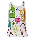 Snoogg Colorful Music Set Mens Casual Beach Fitness Vests Tank Tops Sleeveless T shirts
