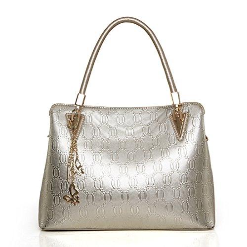 MATAGA , Damen Rucksackhandtasche Gold