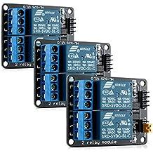 3x kwmobile Módulo de relé de 2 canales con 5V para Arduino