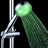 Led Dusche, Monochrome Beleuchtete Handbrause, LED Duschköpfe Licht Wasser Stream Farbwechsel Bad Düse Filter Wasserhahn Sprinkler Sprayer,2