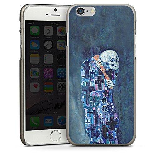 Apple iPhone 5 Housse Étui Silicone Coque Protection Gustav Klimt Tableau Mort et vie CasDur anthracite clair
