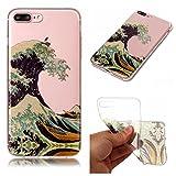 Cozy Hut iPhone 7 Plus / 8 Plus Hülle, Bling Glänzend Glitzer Klar Durchsichtige TPU Silikon Hülle Handyhülle Tasche Back Cover Schutzhülle für iPhone 7 Plus / 8 Plus - die Wellen