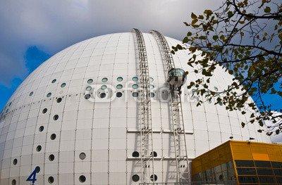 leinwand-bild-90-x-60-cm-ericsson-globe-in-stockholm-bild-auf-leinwand