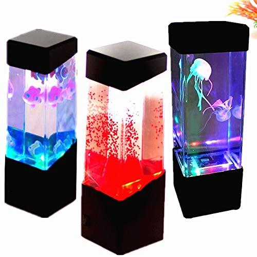 Qualle Aquarium Stimmung Licht Aquarium Stil Sensorische Autismus Lava Lampe LED Schreibtisch Lampe Tiefer Schiff (Aquarium Lava-lampen)