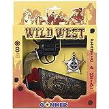 Gonher - Pistola 8 tiros, cartuchera y estrella, 21x27 cm