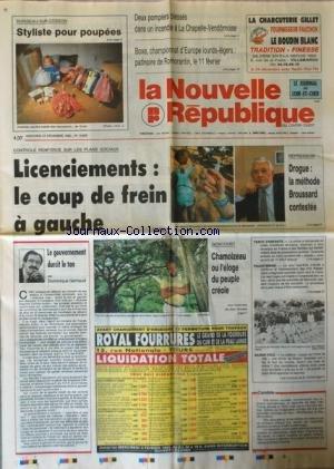 NOUVELLE REPUBLIQUE (LA) [No 14655] du 23/12/1992 - BOXE / CHAMPIONNAT D'EUROPE LOURDS-LEGERS - CONTROLE RENFORCE SUR LES PLANS SOCIAUX - REPRESSION / DROGUE - LA METHODE BROUSSARD CONTESTEE - LE GOUVERNEMENT DURCIT LE TON PAR GERBAUD - GONCOURT / CHAMOIZEAU OU L'ELOGE DU PEUPLE CREOLE par Collectif