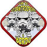 Placa bebé a bordo fan de parodia Stormtroopers