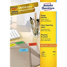 permanent 600 Papier-Etiketten A4 Bogen neon-rot 70 x 37 mm