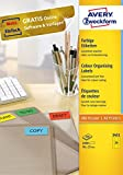 Avery Zweckform 3451 Farbige Etiketten (A4, 2.400 Stück, 70 x 37 mm) 100 Blatt gelb