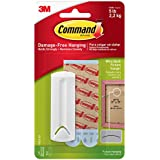 Command Wire-Back Plastic Picture Hanger(White,1- hanger and 2- strips)