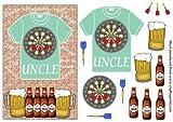 Uncle scheda di freccette e birra T Shirt fronte di Sharon Poore