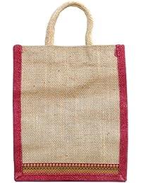 Fusetrend Women's Jute Handbag (Brown)