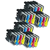 24 Compatible Brother LC-985 Ink Cartridges for MFC-J220 MFC-J265W MFC-J410 DCP-J125 DCP-J315W DCP-J415W DCP-J515W