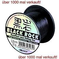 ROBINSON® BLACK ROCK Carpa 600m línea de pesca coulour: negro 7 puntos fuertes + UP®-Etiqueta engomada, Forces:600m / 0.300mm / 17kg