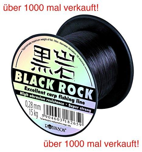 ROBINSON® BLACK ROCK Angelschnur monofile Sehne Karpfen - 7 Stärken, Schnurstärken:600m / 0.245mm / 11kg