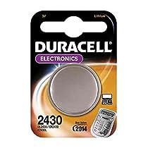 """DURACELL Lot de 2 Blisters de 1 Pile bouton lithium """"Electronics"""" CR 2430 3 volt"""